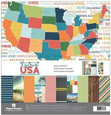 Travel Discover USA 12x12 Scrapbooking Kit Paper House KTSP1055 New