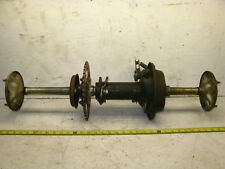 1984 Honda ATC200s 3 Wheeler Complete Rear Axle Assembly w/ Brake Hubs & Carrier