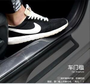 Car Accessories Door Sill Scuff Plate Carbon Fiber Rear Bumper Protector 2*0.05M