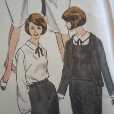 "FF Vintage 1960s Sewing Pattern Vogue 6081 Ladies Skirt Suit Bust32"" As New"