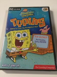 TLC Spongebob SquarePants Typing Learning System for Windows/Mac NEW