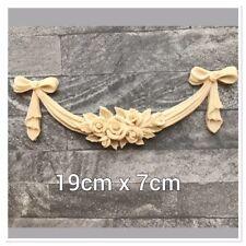 4x Shabby Chic Meuble feuille parchemin Résine Décoration Appliqué moulage sculpture