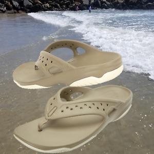 NWT CROC'S Swiftwater Deck Men Flip Flops Sandals Khaki/Stucco SELECT SIZE