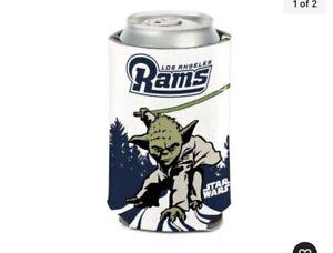 Los Angeles Rams NFL Can Holder Cooler Bottle Sleeve Star Wars Fan Team Yoda