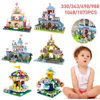Girl Princess Castle Diamond Tower Mini Building Blocks Nano Block Toy Gift DIY