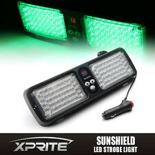 Xprite 86 LED Sunshield Windshield Strobe Light Emergency Warning Flashing Green