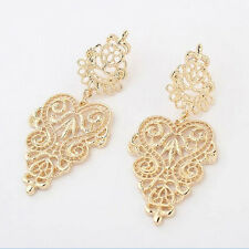 1 Pair Fashion Women Ladies Earrings Bohemia Style Hollow Earring Stud Gold New