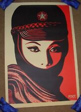 SHEPARD FAIREY poster MUJER FATALE obey giant offset art print signed