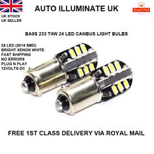 BA9S 233 DEL 24 T4W SMD XENON WHITE SIDE LIGHT Bulbs FEUX CANBUS SANS ERREUR 12 V