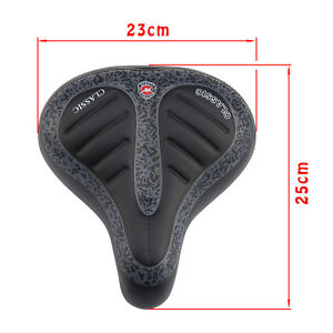 Extra Wide Comfy Cushioned Bike Seat Soft Padded Bicycle Gel Universal Saddle