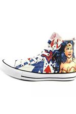 *RARE* Wonder Woman Converse Shoes DC Comics Men's 4/Women's 6 Unisex.