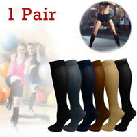 Unisex Leg Support Elastic Stretch Compression Socks Stockings Football