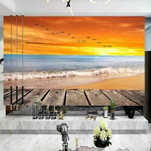 Field Gloss Orange 3D Full Wall Mural Photo Wallpaper Printing Home Kids Decor