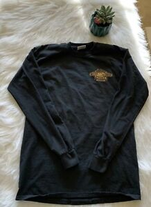 Men's Woody Creek Tavern Long Sleeved Shirt 100% Cotton Black with Boar's Head