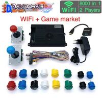 2 Players 3D Wifi Pandora Saga EX Box 8000 in 1 Arcade DIY Kit Game Console HDMI