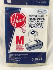 2 PACK LOT-GENUINE HOOVER VACUUM CLEANER BAGS TYPE M-PART 4010037M 3 BAGS/PACK