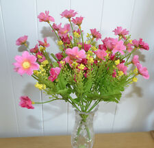 12x Bouquet de Fleurs Artificiel Rose