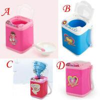 Mini Electric Washing Machine Cosmetic Sponge Makeup Brushes Cleaner Toy Wash US