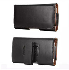Black Holster Leather Belt Clip Cover 360 Rotation Waist Phone Bag Case Cover