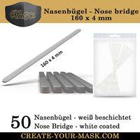 50 Nasenbügel / Metallstab für Mundschutz Maske - Nasen-Mund-Bedeckung - TOP