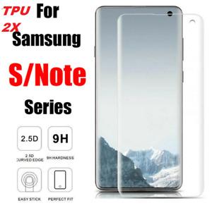 Full Glue Soft TPU Film Screen Protector For Samsung Galaxy S6 S7 8 Note 8 9-2X.