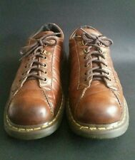 Doc Dr Martens Oxford Shoes Brown Leather Size UK 10 US 11 Womens US 12