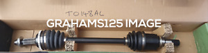 DRIVESHAFT FRONT LEFT FITS TOYOTA YARIS SHAFTEC TO148AL
