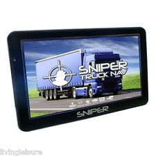 "7"" Sat Nav for Motorhome, RV or Caravan Latest 2017 UK & Europe Maps UK Seller"