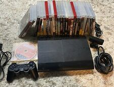 Sony PS3 Super Slim 500GB CECH-4001C Bundle with 24 Games Most CIB Tested