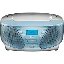 OK. ORC311 - BL Tragbarer Radiorecorder, Hellblau CD MP3 USB NEU OVP
