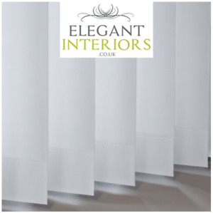 Urban FR Bright White Blackout PVC - Made To Measure Complete Vertical Blind