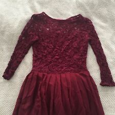 Alice Berry Red Burgundy Wine Lace Chiffon Dress w/Bow Small Custom Etsy Gown