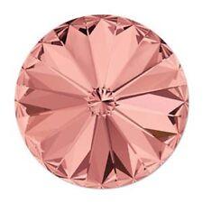 Czech Swarvoski Crystal 1122 12MM BLUSH ROSE FOILED Single Beads