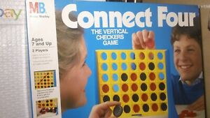 Connect Four, Checkers Game, by Milton Bradley. (1990),complete, VG condition!