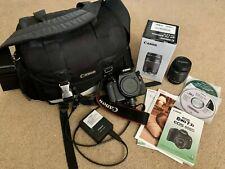 Canon EOS Rebel T3i / EOS 600D 18.0MP Digital SLR Camera- Used, w/ Lenses & Bag