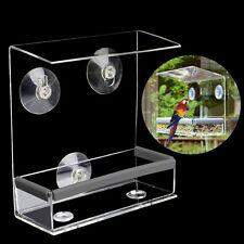 Clear Window Birdhouse Bird Feeder Feeding Squirrel With Suction Tray Cup Mount