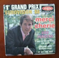 """'Merci Cherie' 45 RPM by Udo Jergens Picture Sleeve / 7"""" EP France 1966"""