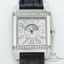 Jaeger Le Coultre Reverso Squadra Duoface Medium Stahl Diamanten 235.8.76 Duetto