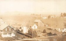Real Photo Postcard Overview North East from Creswell High School, Oregon~110846