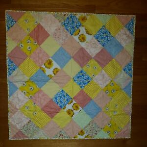 "Homemade Baby - Crib - Lap - Quilt Finished 37"" x 37"""