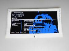 Lego® Star Wars R2-D2 UCS  Sticker/Aufkleber  aus Set 10225 Neu