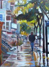 Du Parc, Montreal Street Scene,  18x24, Darlene Young Canadian Artist