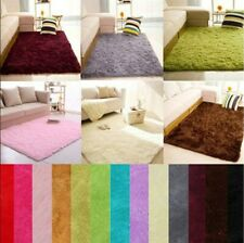 Shaggy Rugs Thick Plain Soft Shaggy Rugs For Living Dining Room Bedroom Carpet