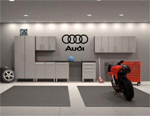 "Audis Logo Garage wall decals 22"" x 36"""