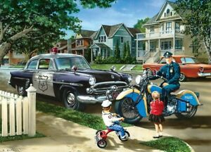 Jigsaw Puzzle Fire Police Rescue Neighborhood Motorcycle Patrol 1000 pieces NEW