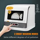 Mini Electric Ultrasonic Dishwasher Tableware High Temp Sterilization Machine