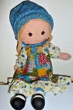 "Holly Hobbie Rag Doll American Greetings Knickerbocker 1974 Toy Lovey VTG 16"""