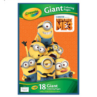 """Crayola Despicable Me 3 Giant Coloring Pages Pad Minions 12.75x19.5"""" 18 Pages"""