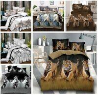 3D Animal Complete Duvet Quilt Cover Complete Bedding Set  All UK Sizes
