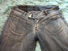 "'Firetrap' Black Seal Faded Blue Bootcut Designer Jeans, W 27""/L 32"", UK 10"